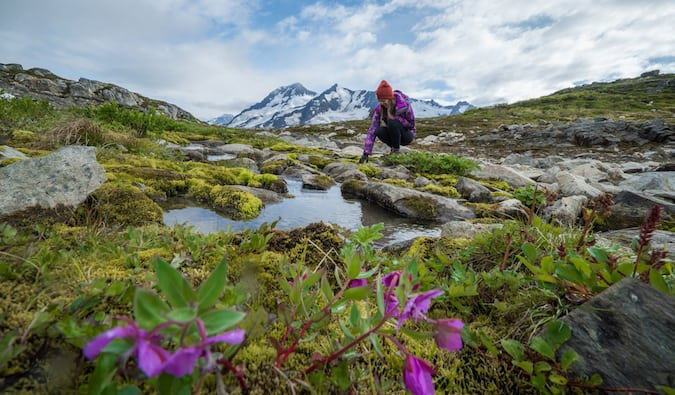 Kristin Addis in the outdoors in Alaska