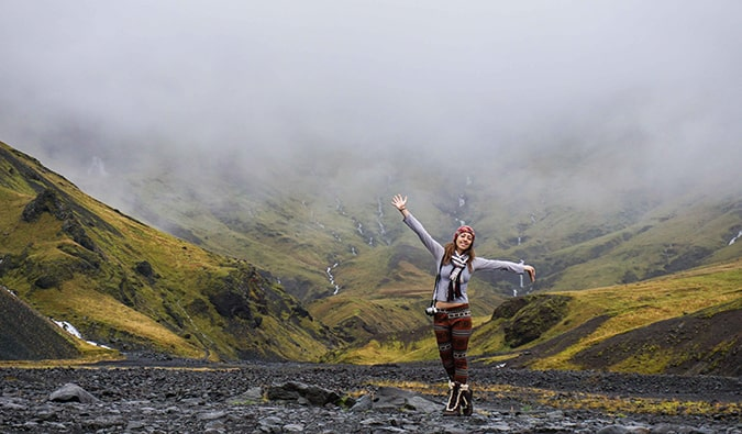 Kristin Addis in Iceland