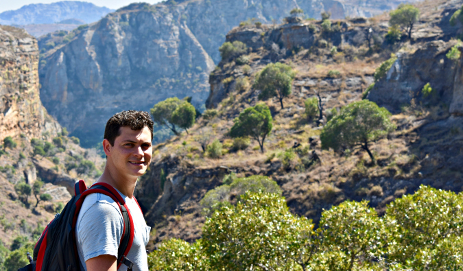 Matt hiking in Madagascar