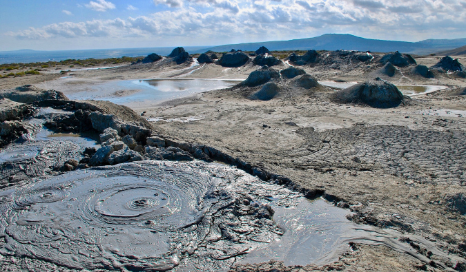 mud volcanoes in Azerbaijan