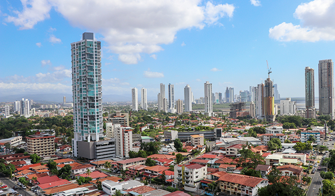 A view of Panama City on a sunny summer day