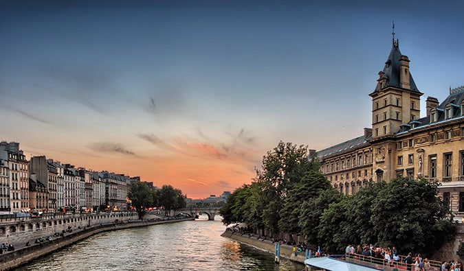 Paris along the River Seine