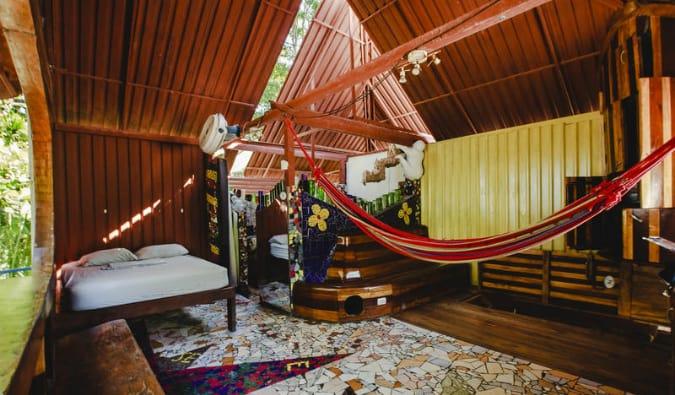 rocking j's hostel in costa rica lounge