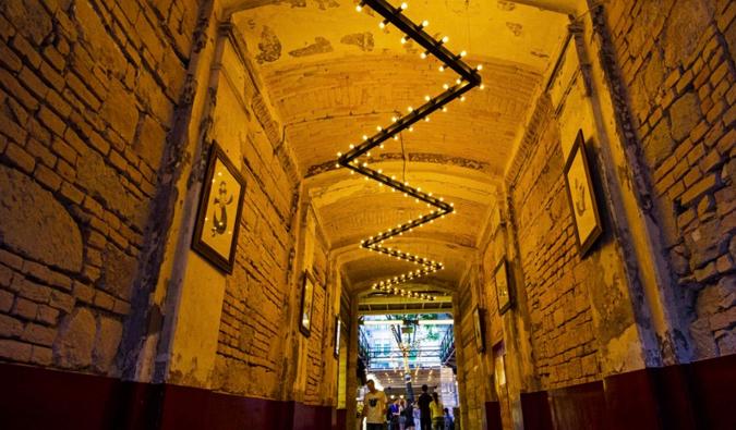 ruin bar mazel tov in Budapest