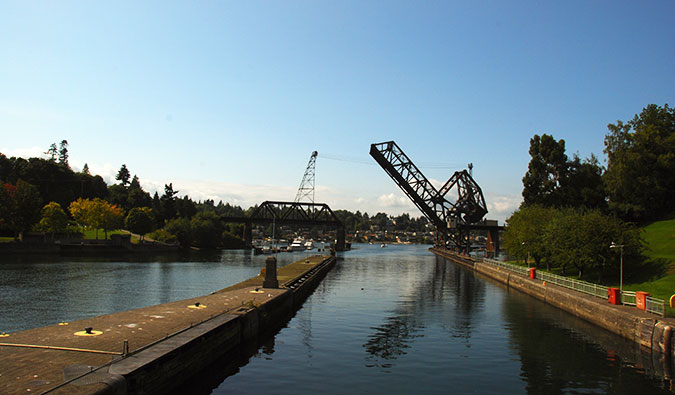 Seattle's Ballard Locks; Photo by Lucia Sanchez (flickr:@gusilu)