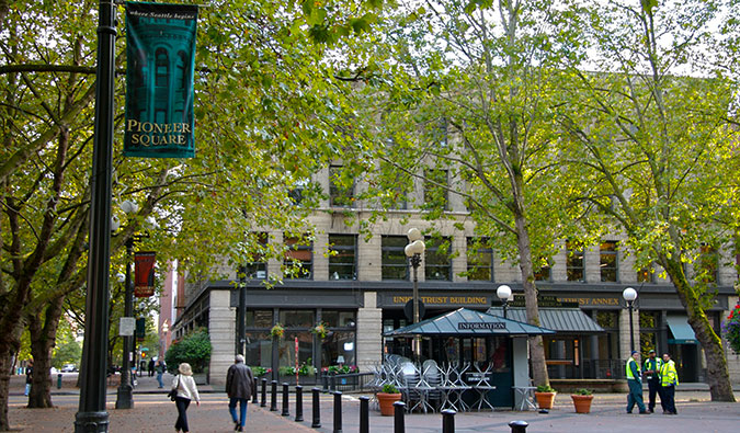 Seattle's Pioneer Square; Photo by Cord Rodefeld (flickr:@rodefeld)