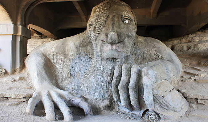 Seattle's Fremont Troll; Photo by David Herrera (flickr: @dph1110)