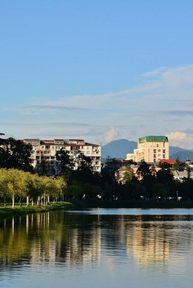 A view of Batumi the Black Sea in Georgia