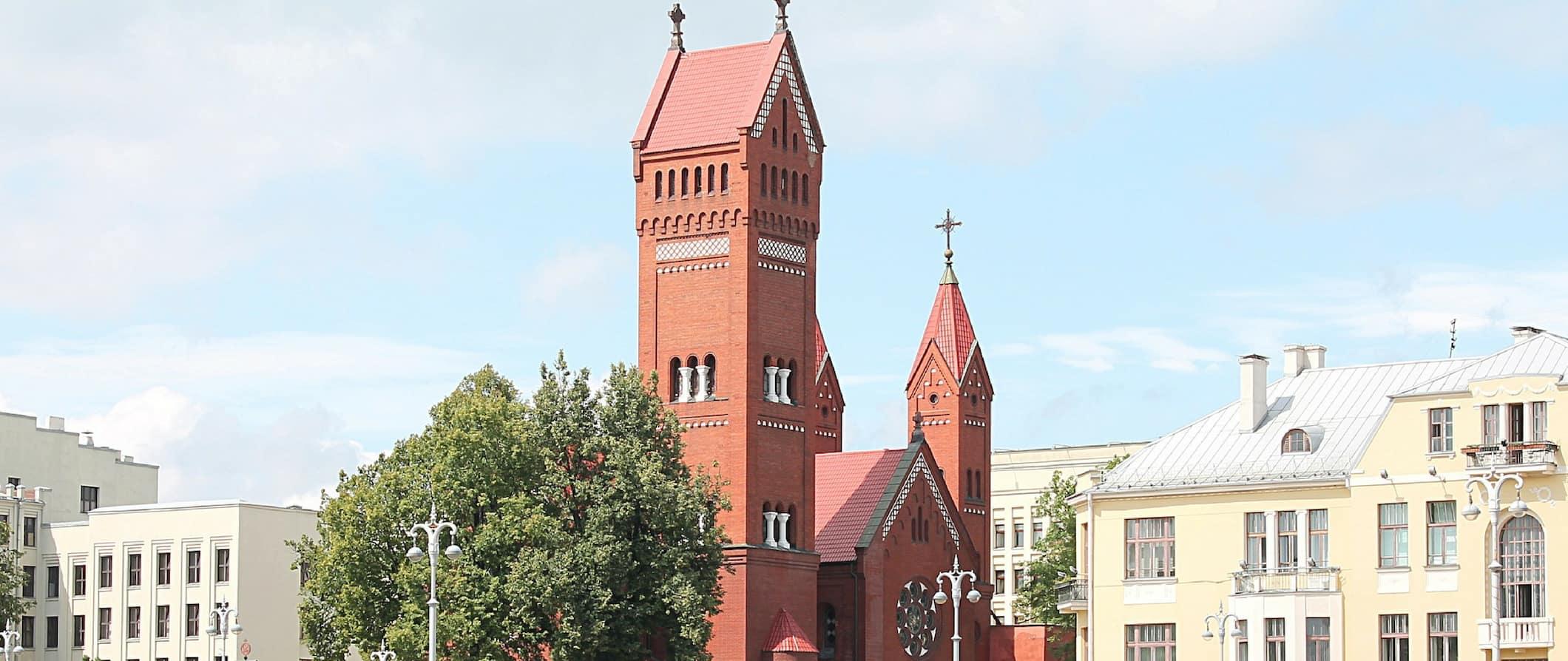 a church in Minsk Belarus