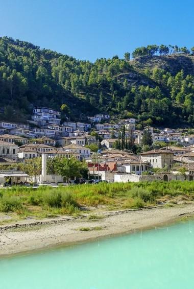 The historic town of Berat in Albania