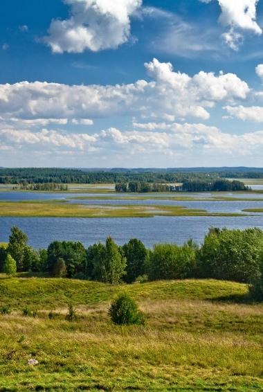Strusta Lake. View from Majak hill. Bras?au district, Viciebsk province, Belarus. Por zedlik - Obra do próprio, CC BY-SA 3.0, https://commons.wikimedia.org/w/index.php?curid=14839141