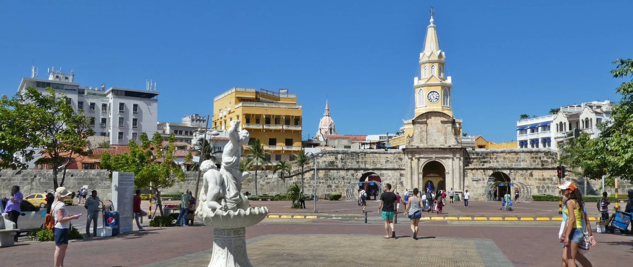 The Old Walled City in Cartagena Colombia