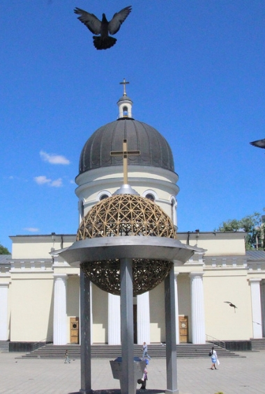 A church in the capital of Moldova Chisinau