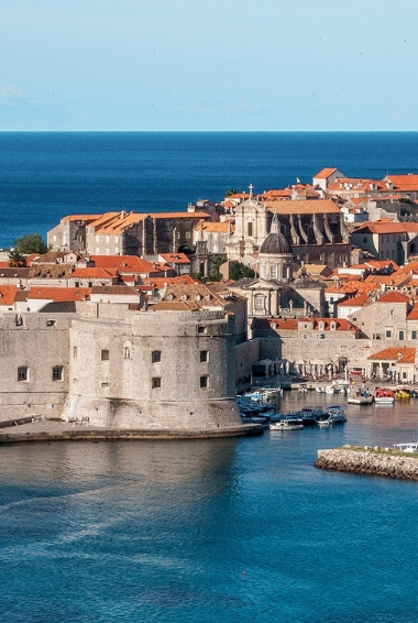 The city of Dubrovnik taken from the sea