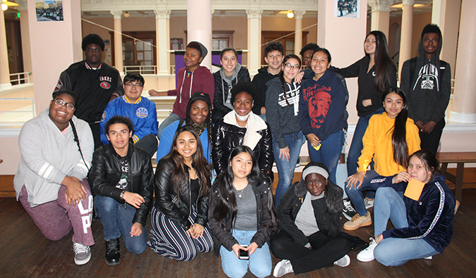 Envision students from Oakland, California