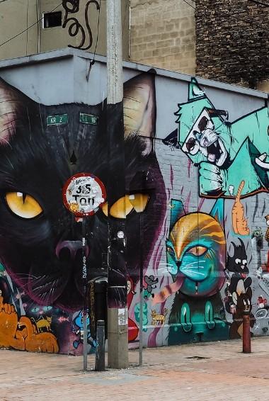 Graffiti on the streets of Bogotá close to La Candelaria