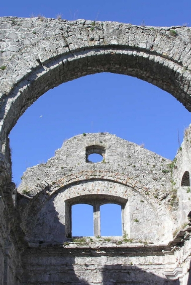 Part of the historic ruins in the city of Kastav