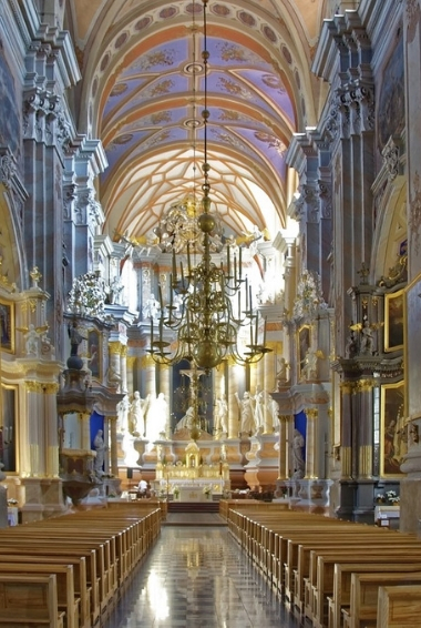 Inside the Cathedral in Kaunas Lithuania