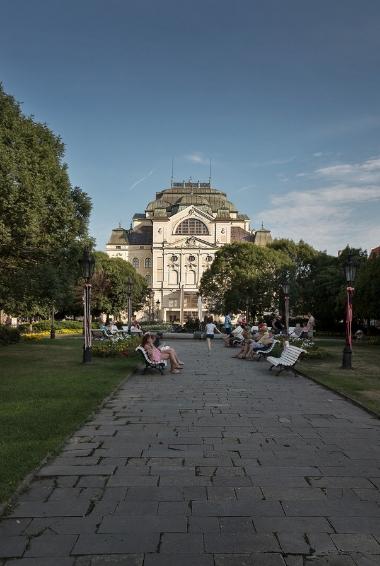 Košice church and park in Slovakia