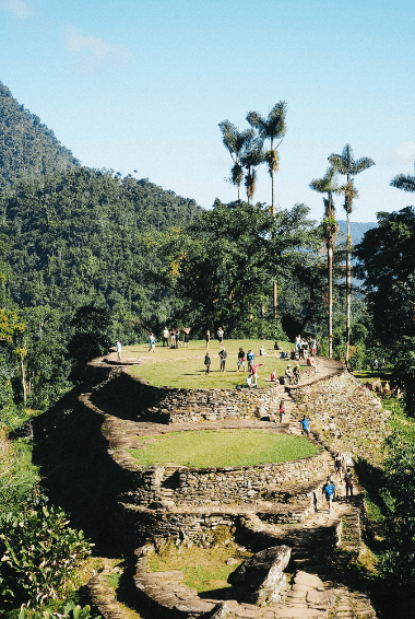 The Lost City in the Sierra Nevada mountains of Colombia