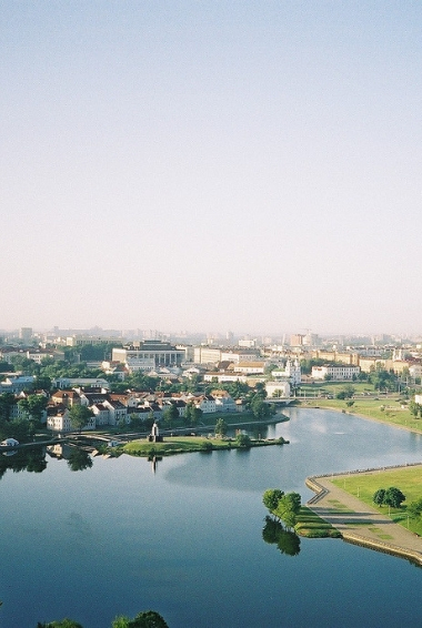 a vie of Minsk taken from above. Image by Nigel Swales