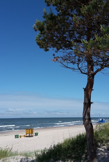 A quiet part of the beach in Palanga Lithuania