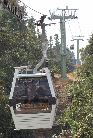 a cable car taking people up to Parque Arvi in Medellín Photo Credit: sergejf