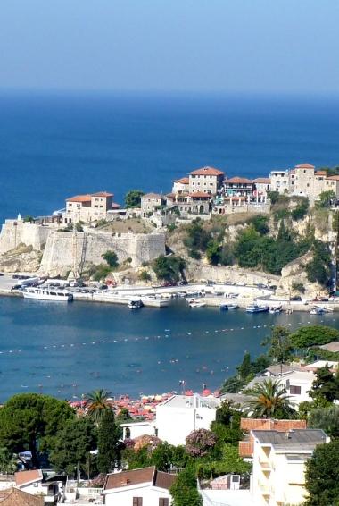 Panorama of Ulcinj in Montenegro