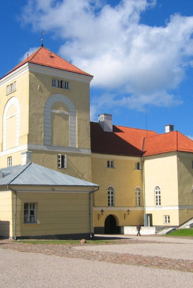 A church in Ventspils, Latvia