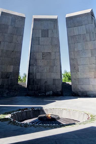 the Eternal Flame at the Armenia Genocide Memorial and Museum; photo by Dan Lundberg (flickr:@9508280@N07)
