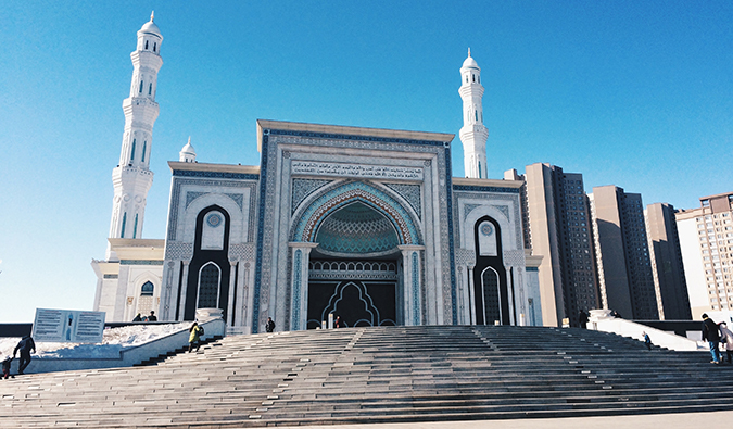 a mosque in Azamat, Kazakhstan