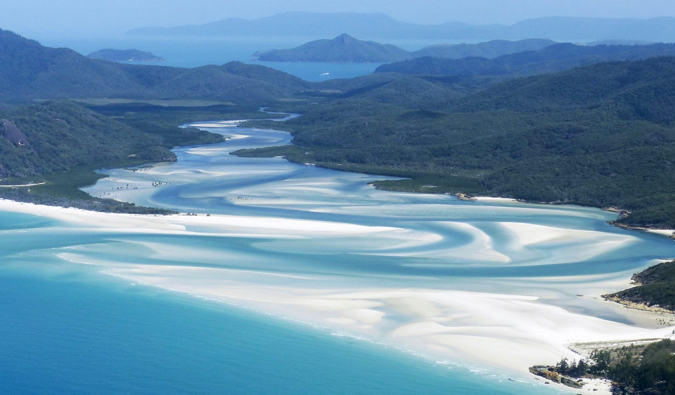 Overlooking the beautiful waters of the Whitsunday Islands in Australia