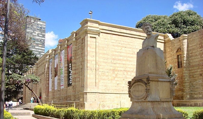 The facade of the National Museum of Colombia in Bogota