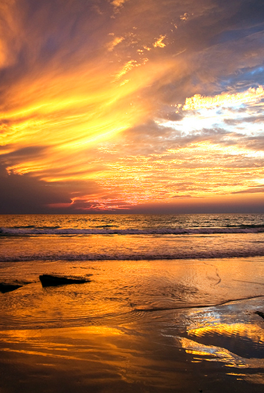 sunset at Cable Beach, Broome; photo by David Gardiner (flickr:@9512940@N08)