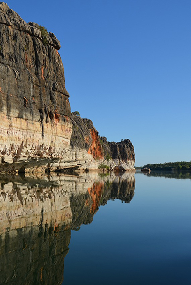 peaceful water inside a gorge in The Kimberley