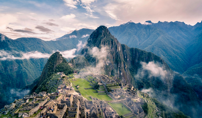 A stunning picture of Machu Picchu in Peru