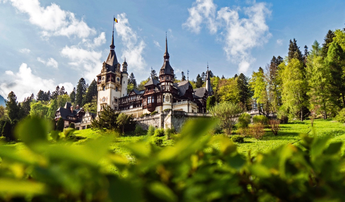 One of the many historic and picturesque castles in Transylvania, Romania