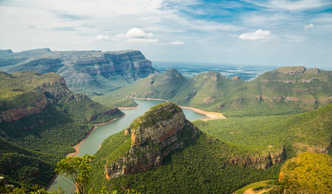 The lush hills and mountains of South Africa