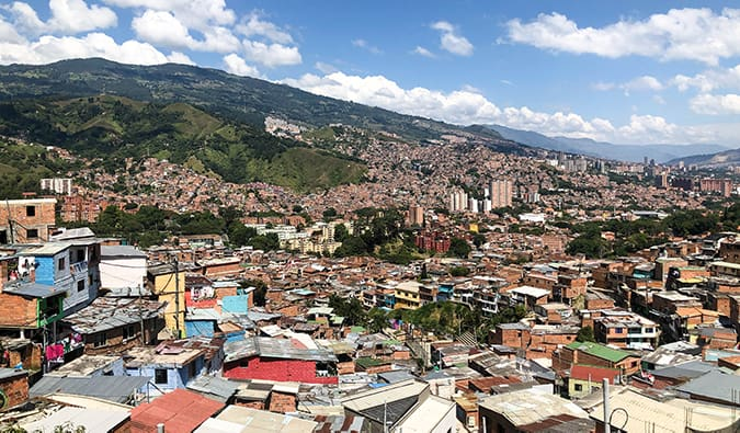 view of Medellin from a viewpoint in Colombia