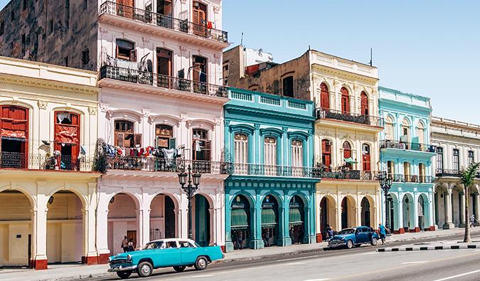 colorful buildings in downtown Havana