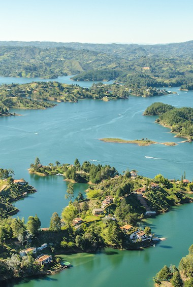 view over Guatape, Colombia