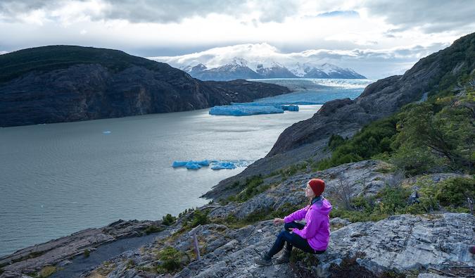 Kristin Addis in a mountain landscape with glaciers