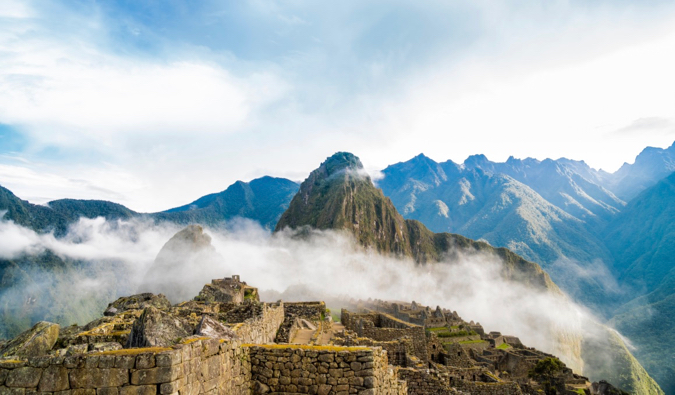 The sweeping view of Machu Picchu and Huayna Picchu