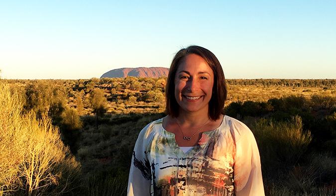 Michelle at Uluru, Australia
