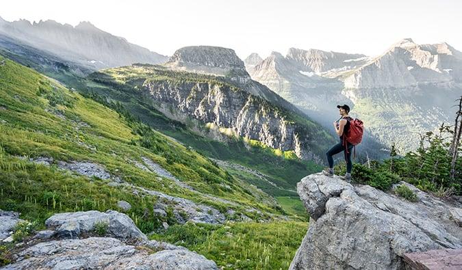 Kristin Addis hiking in the Montana mountains