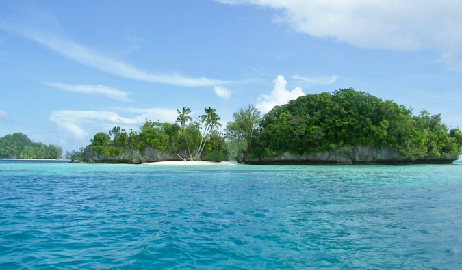 One of the many Rock Islands in Palau