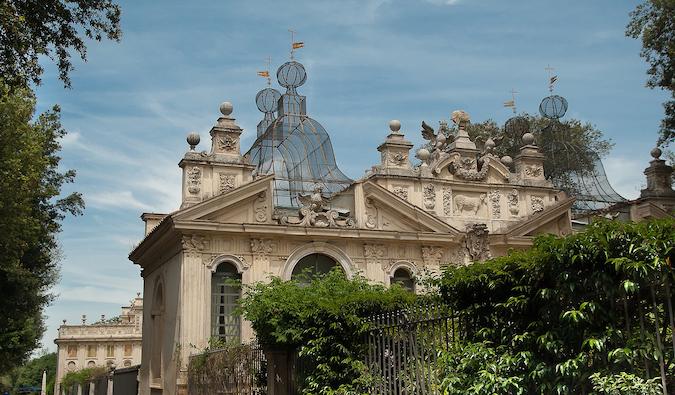 Les jardins de la Villa Borghese à Parioli, Rome