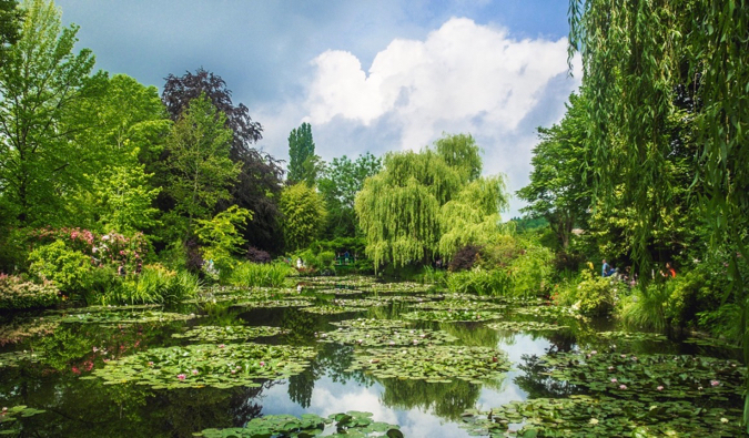 The famous ponds and gardens of painter Claude Monet in Giverny, France