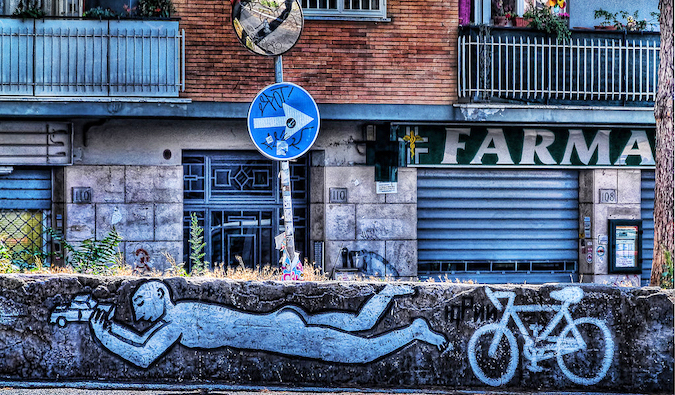 street art in Pigneto; photo by Agostino Zamboni (flickr:@agostinozamboni)