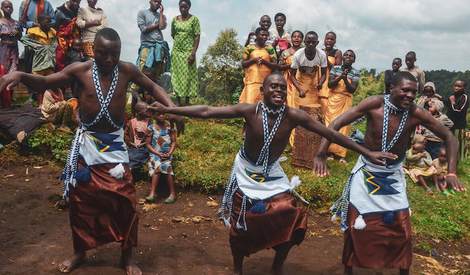 traditional dancers in Rwanda